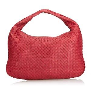 Bottega Veneta Hobos red leather
