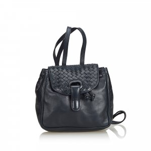 Bottega Veneta Intrecciato Leather Drawstring Backpack