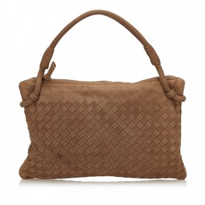 Bottega Veneta Intrecciato Suede Handbag