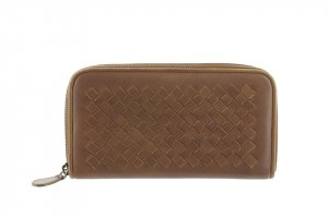 Bottega Veneta Intrecciato Zip Around Leather Wallet