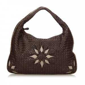 Bottega Veneta Leather Flower Intrecciato Handbag