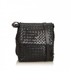 Bottega Veneta Leather Intrecciato Crossbody Bag