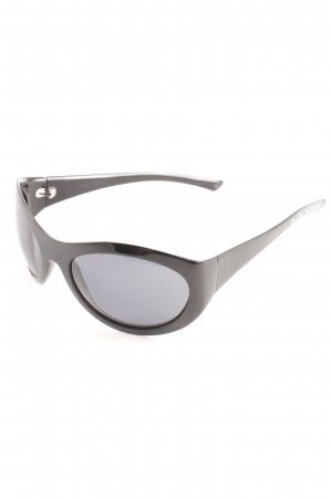 Bottega Veneta ovale Sonnenbrille schwarz Elegant