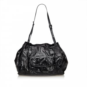 Bottega Veneta Sac porté épaule noir faux cuir