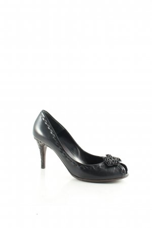 Bottega Veneta Peeptoe Pumps schwarz Party-Look