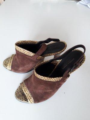 Bottega Veneta Pumps High Heels, ausgefallen, Abendschuh, Gala, Größe 40, Schlangenleder, Wildleder