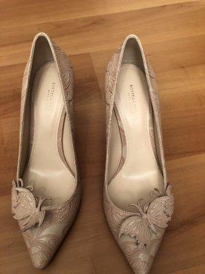 Bottega Veneta Zapatos de punta albaricoque-rosa