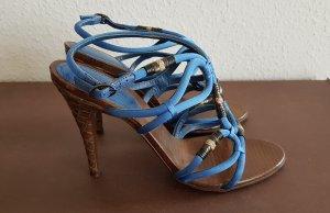 Bottega Veneta Sandalen mit Absatz  intrecciato Leder NP: 995€