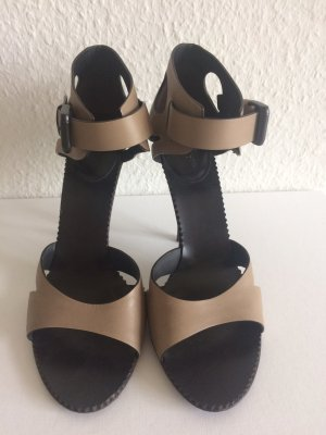 Bottega Veneta High Heel Sandal beige leather