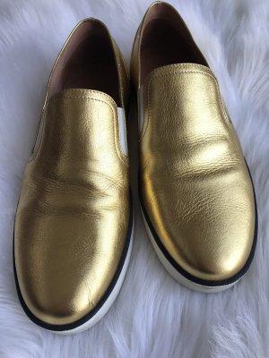 Bottega Veneta Slipper Gr 38,5 Gold Designer Schuhe