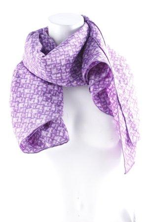 Bottega Veneta Écharpe d'été violet foncé-blanc style décontracté