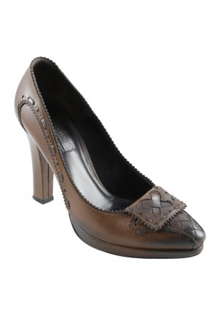 Bottega Veneta Spitz-Pumps cognac-braun Business-Look