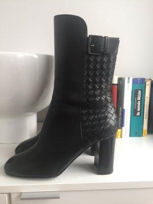 Bottega Veneta Stiefeletten schwarz Leder Gr 38
