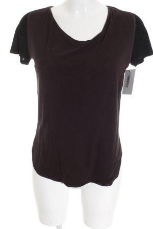 Bottega Veneta T-Shirt schwarz-brombeerrot Casual-Look