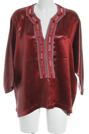 Bottega Veneta Tunikabluse rot-blasslila Glanz-Optik