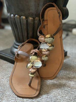 Bottega Veneta Toe-Post sandals multicolored
