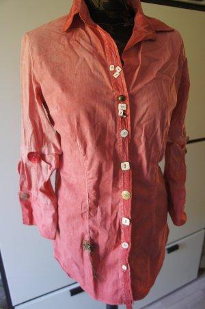 Bottega wunderschöne Bluse Größe S 36 alt rosa TOP!!!!