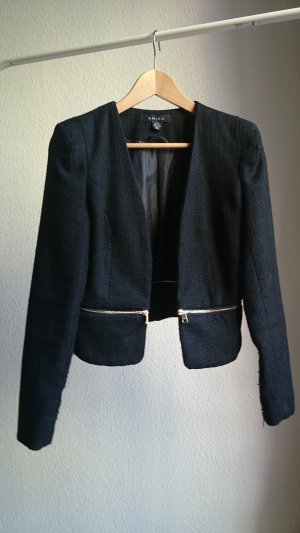 Amisu Tweed Blazer black-gold-colored