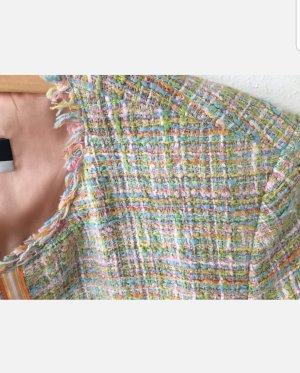 Boucle Blazer # lachs/mint/weiß Töne # Chanel Stil # Grösse D 40/D42