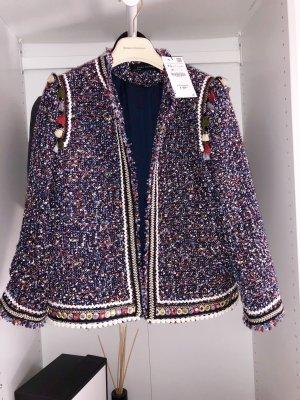 Zara Tweed blazer veelkleurig