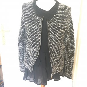 Wool Blazer black-white