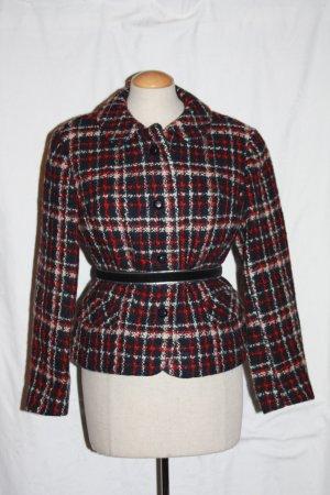 Bouclé Jacke 36 Vintage Blazer im Chanel Stil WOLLE