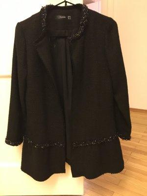Hallhuber Lange blazer zwart Wol