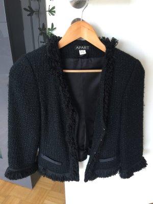 Apart Tweed Blazer black mixture fibre