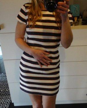 Bouclé Kleid gestreift Tommy Hilfiger blau weiss rot Etuikleid TK Maxx Zara Mango