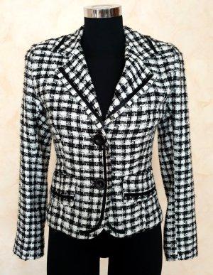 Tweed Blazer black-white