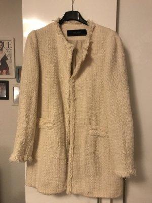 Zara Gewatteerde jas room Katoen