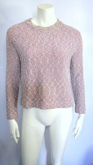 Bouclé Oversized Strick Sweater Rose New