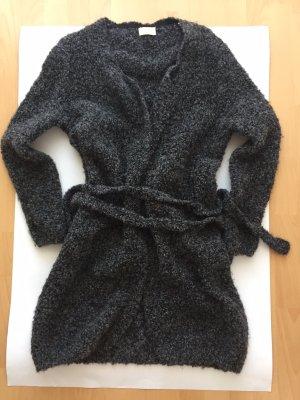 Boucle-Strickmantel AMERICAN VINTAGE, Wolle+Alpaka, Anthrazit, Größe M