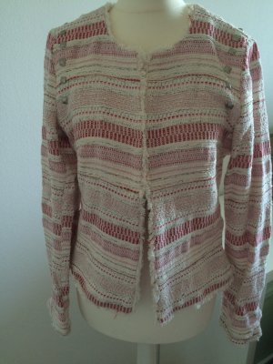 Boucle Tweed Blazer Jacke Colour of the World M 38 neu Frühling rot rosa weiß