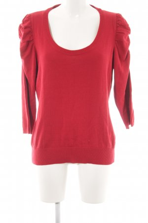 Boule Rundhalspullover rot Casual-Look