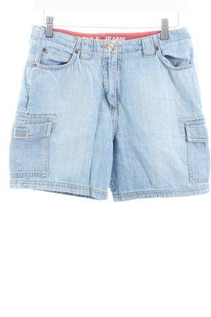 Boule Shorts himmelblau-wollweiß Casual-Look
