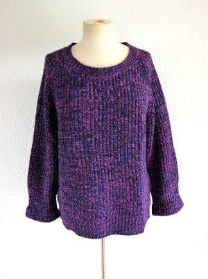 Boule Strickpullover lila-pink meliert, oversized Pullover 80er, grunge blogger