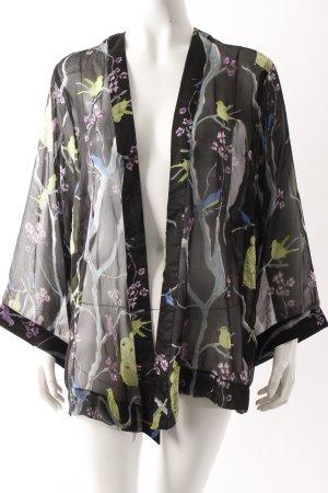 Boutique Kimono schwarz mit Print