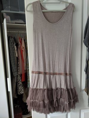 Friday' s Project Robe à franges mauve polyester