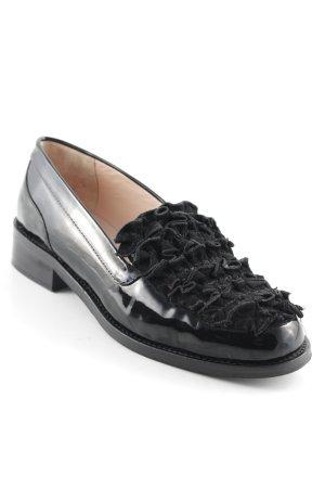 BOUTIQUE MOSCHINO Schlüpf Zapatos  schwarz extravaganter Stil Damen Gr. Gr. Damen DE 39 Leder 26d444
