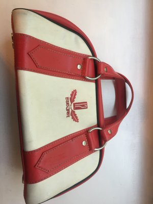 Diesel Industry Bowling Bag white-red imitation leather