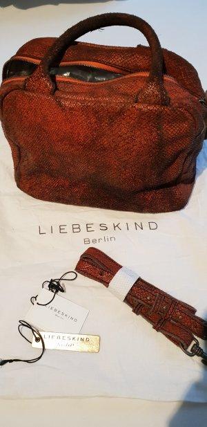 Bowling Bag von Liebeskind, Sonderedition in rotem Vintageleder