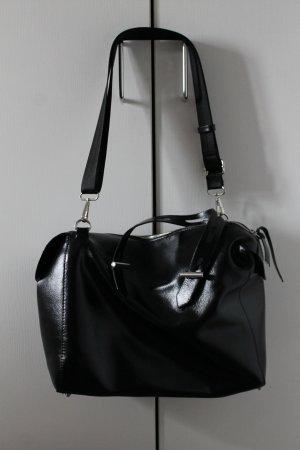 Bowling-Handtasche mit breitem Gurt