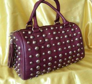 Bolso de bolos púrpura