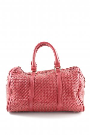 Bowling Bag carmine weave pattern casual look