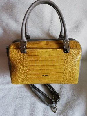 Picard Bowling Bag dark yellow-grey imitation leather