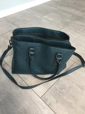 Bowlingtasche / Tasche dunkelgrün mit vielen Fächern