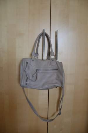 Pieces Bowling Bag light grey imitation leather
