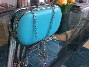 New Look Bag light blue imitation leather