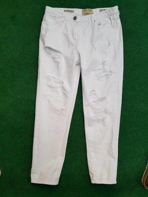 Parisian Boyfriend Trousers white cotton